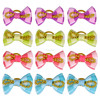 Dog Pet Cat Puppy Bows Grid Pattern Mixed Colors Designs Wholesale Rubber Band