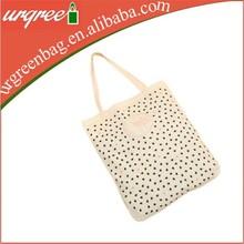 Silk screen printing cotton tote shopping bag