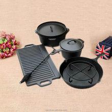 cast iron camping set Dutch oven fire pot