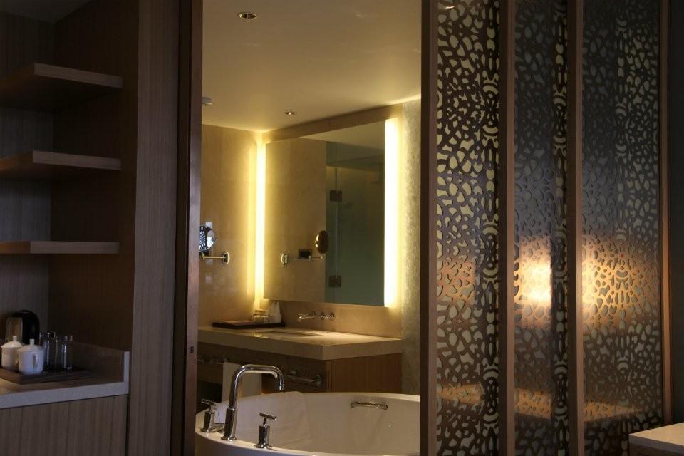 호텔 욕실 거울 다시 조명, 조명 세면대 거울, 16 년 공급 호텔 ...
