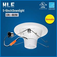 Good heat dissipation long lifespan 15w UL downlight with E26 base