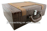 handsome top quality suitcase shape wine carrier boxes