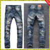Double pocket Distressed or ripped jeans for mens Denim Material and Adults Age Group stylish jeans OEM Service Supply Type