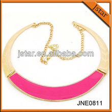 Hot selling expoy big round necklace