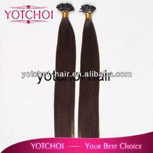 indian virgin hair, indian human hair, indian raw hair I-tip hair