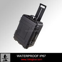 IP67 Hard Engineering PP Plastic equipment trolley case with foam &wheeles Model No.HTC025-1