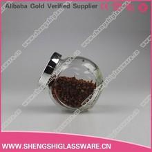 160ml food storage glass jar ,glass jam jar with stainless steel lid
