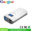 Guoguo LED torch 2.1A output mobile charger dual USB fast charging wireless power bank 10000mah for all kinds of phones