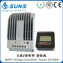 2015 New Function Tracer2215BN Series mppt solar charge controller 12v24v 20a made in China