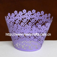 2013 new product purple flowers cupcake wrapper wedding event decorations wholesale