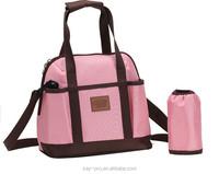 2015 Fashion Pink Green Multi-function Baby Diaper mummy bag