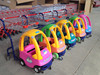 Baby Cartoon Shopping Cart With Toy Car