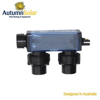 Square swimming pool salt water generator within Titanium plates set