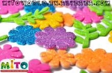 EVA Foam glitter stickers Flower Shape,letter shape,custom foam shape