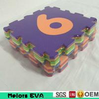 Melors eva floor crawling mat Non-toxic interlocking number eva foam mat for children study