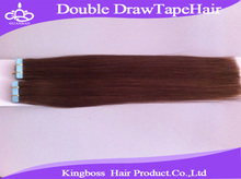 Quality double drawn tape hair extension/double drawn tape hair extensions/one piece human hair extensions