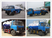 2015 China brand used sewage truck 3ton mini sewag suction truck 160ps 5-6m3 volum sewage sucton truck for sale