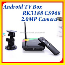 2015 Best Full HD 1080P Video Quad Core RK3188 TV Box Android 4.2 ith Skype