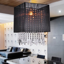 Fabric Chandelier Crystal Pendant Lighting For Dinning Room Model:8016