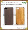 High Quality Dark Walnut Natual Bamboo Hard Real Wood Phone Case for iphone 4 5 6 6 plus