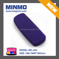 factory wholesale slim purple metal eyeglass case, pu leather metal eyewear case, glasses case