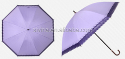 Hollow wave edge and beutiful straight umbrella