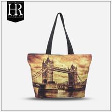 HenRon1 GSV certification colorful monogrammed canvas tote bag