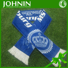 High quality customized sports promotional knitted mesh polyester fan scarf