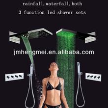 easy installation 3 color change wall mount shower faucet handle bath shower set