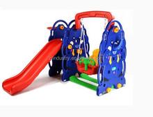 Cheap elephant plastic swing and slide combination for nursery school