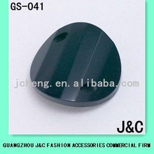 curved black color round glass crystal bead