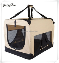 New Style Beige Soft Side Pet Travel Carrier Crate