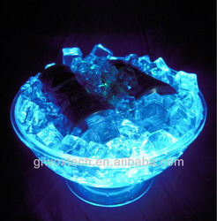 Big led light up plastic ice bucket,LED ICE BUCKET,Colorful led ice cooler