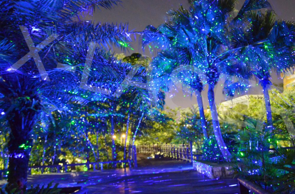 Blue landscape laser light with waterproof outdoor for Christmas star outdoor lights decorations