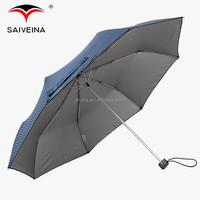 SAIVEINA 23 inch strong aluminium parts 3 fold umbrella / uv protection umbrella dot printed