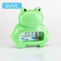 high quality plastics ABS resin frog shape hot water temperature thermometer