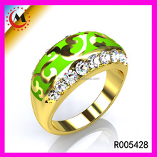ATTRACTIVE LADIES WHOLESALE PATTERN SIMPLE O RING JEWELRY FOR ENGAGEMENT