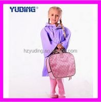 New Style Kids Green And Purple PU Raincoat Outdoor Waterproof Kids Wholesale Raincoat