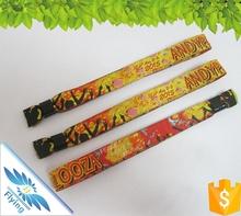 2015 Custom Festival Woven Fabric Wristband for Events