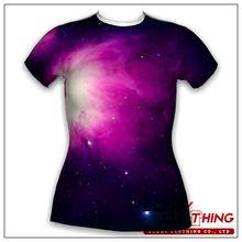 Low price galaxy t-shirts low moq clothing