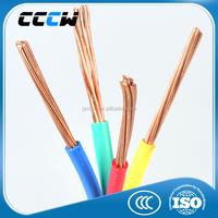 China manufactur Copper core PVC electricity cable
