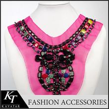2015 Popular fascinating collar neck designs for ladies suit