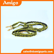 2015 Hot sale factory supply hunting dog collar metal chain leads nylon rope leash