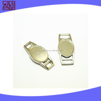 zinc alloy shoelace charm for jewelry bracelet,metal paracord charm