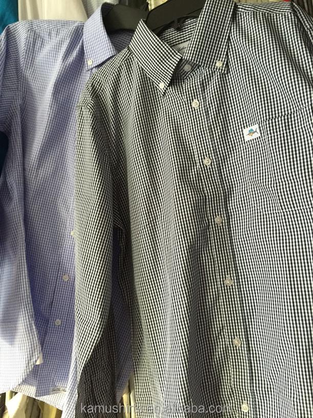 Wholesale mens gingham dress shirts button down collar for Mens gingham dress shirt