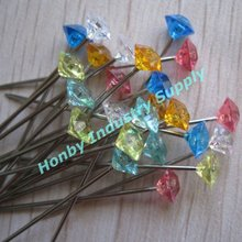 38mm Wedding Party Supplies Colorful Diamante Crystal Bouquet Pin