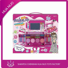2014 Promotion gift girl favourite play toys, colourful makeup lip gloss, eyeshadow, blush, kids makeup