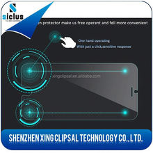 2015 creative design magic touch tempered glass screen protector with smart touch back and confirm buttons