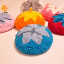 Children's Hats Wholesale Winter Baby Knitted Caps With Wool Warm Beret