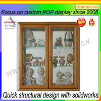 Acrylic layered custom doll & toy display showcase for exhibition made in shenzhen